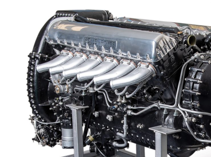 Rolls-Royce Merlin Engine Side
