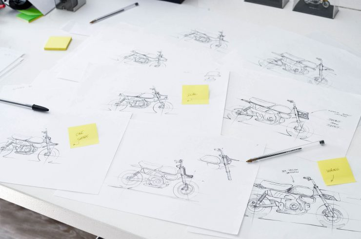 VIBA Jane – A Honda Monkey Custom Sketches