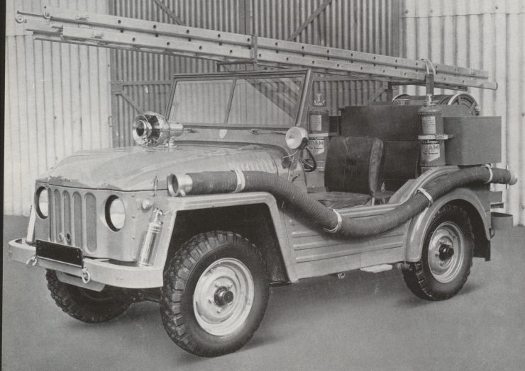 Austin Champ Firefly fire fighting vehicle