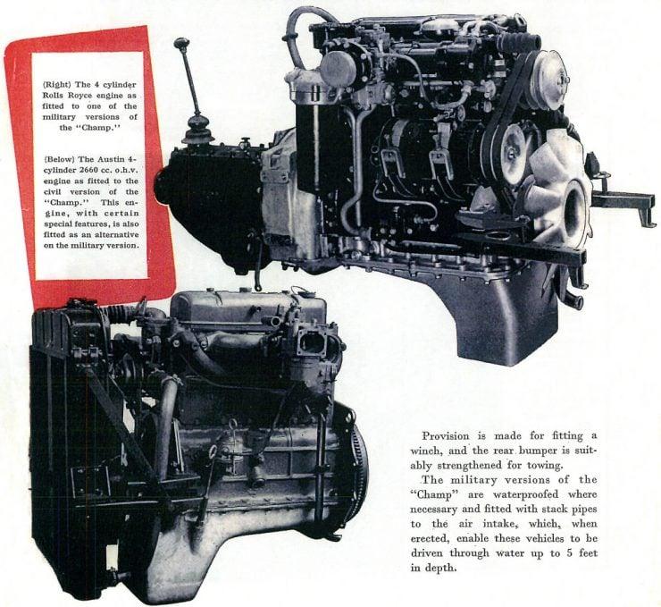 Austin Champ Engines