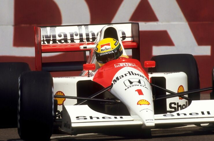 Ayrton Senna McLaren Honda at the 1991 United States Grand Prix