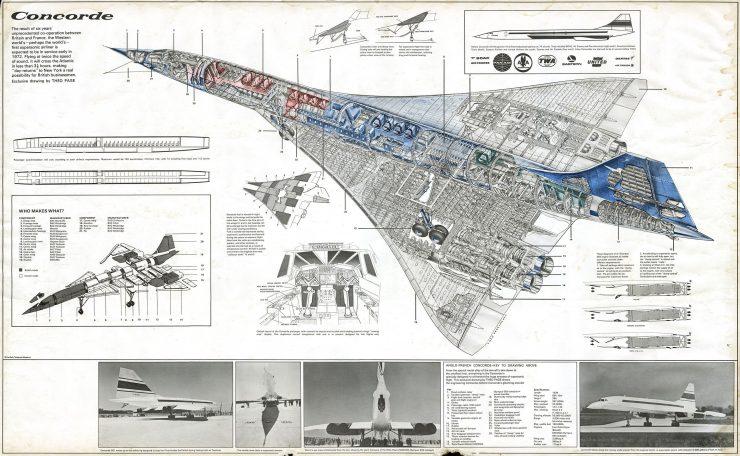 Concorde Cutaway Drawing