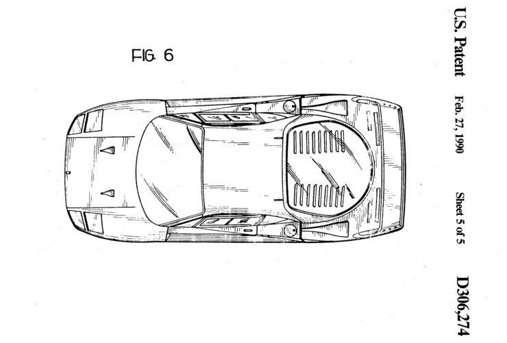 Ferrari F40 Patent Drawing 6