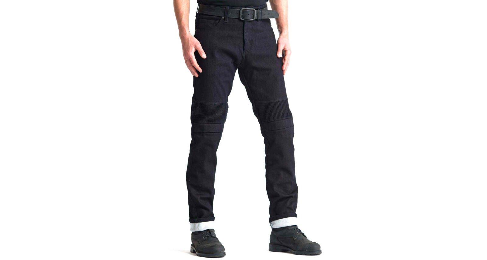 Pando Moto Karl Steel Black Dyneema® Motorcycle Jeans - 15 Times Stronger Than Steel