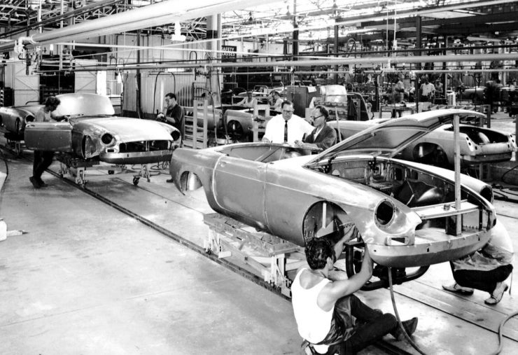 MGB Factory Assembly Line