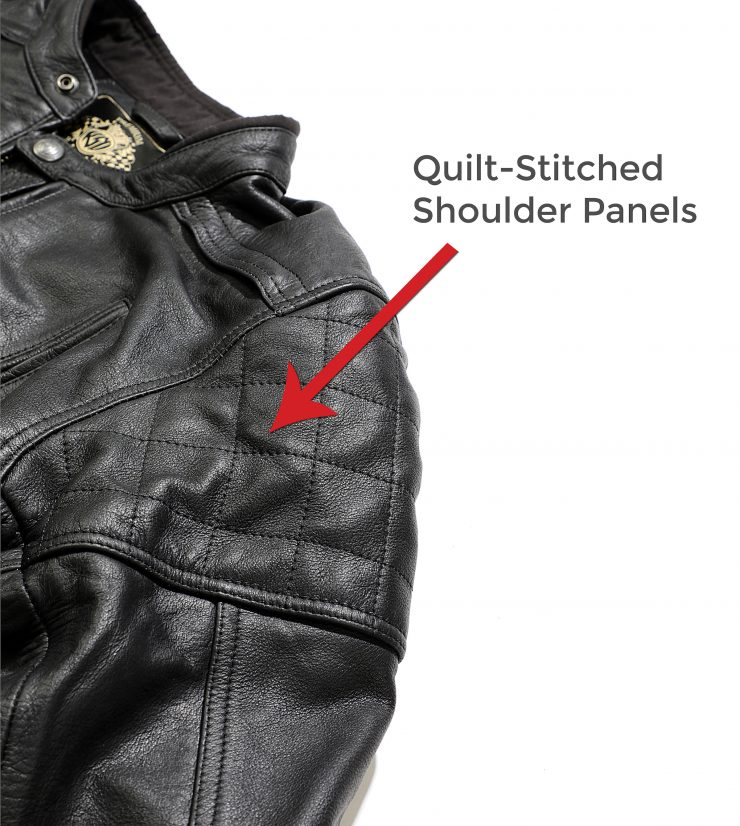 Quilt-Stitched Shoulders