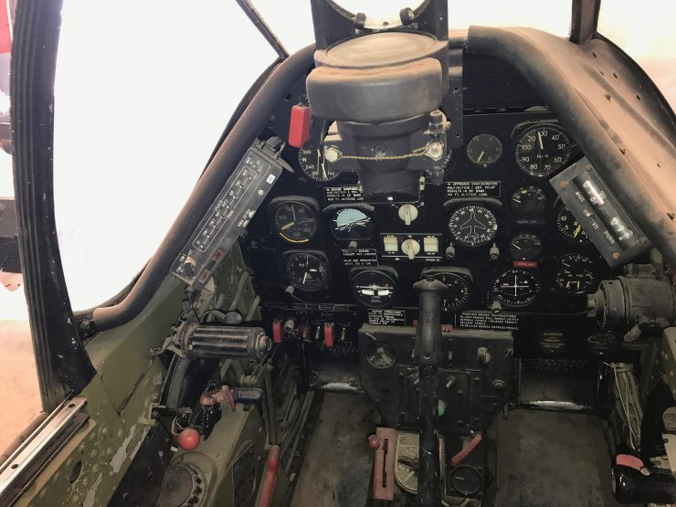 Unrestored P-51D Mustang Controls 2