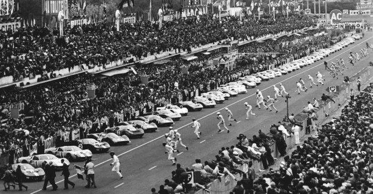 1966 24 Hours of Le Mans Start GT40