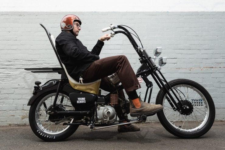Brd Coles Custom Postie Bike Chopper - The Hopper