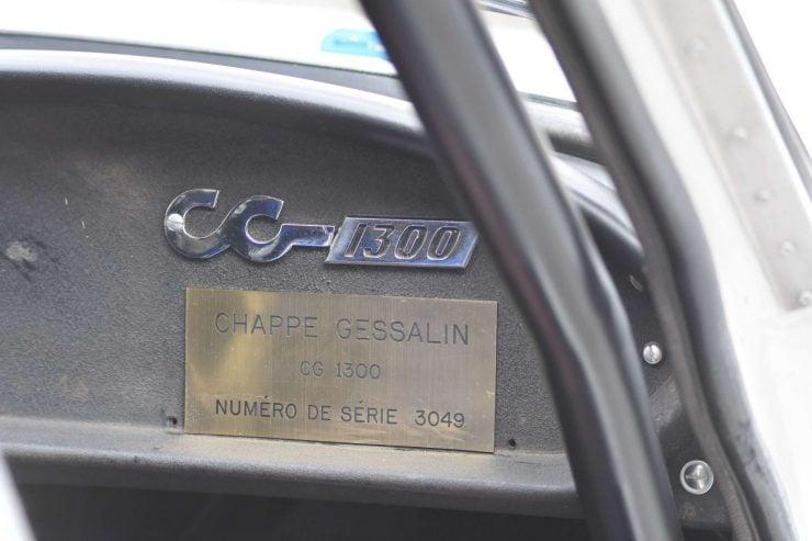 CG 1300 ID Plate