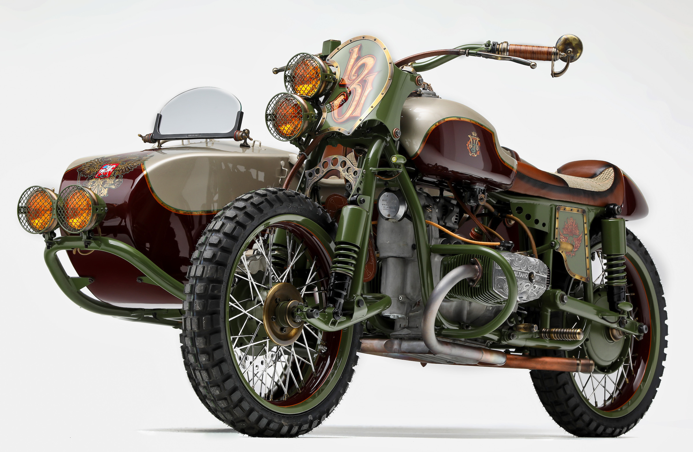 Custom 2wd Ural Sidecar Motorcycle By Le Mani Moto From