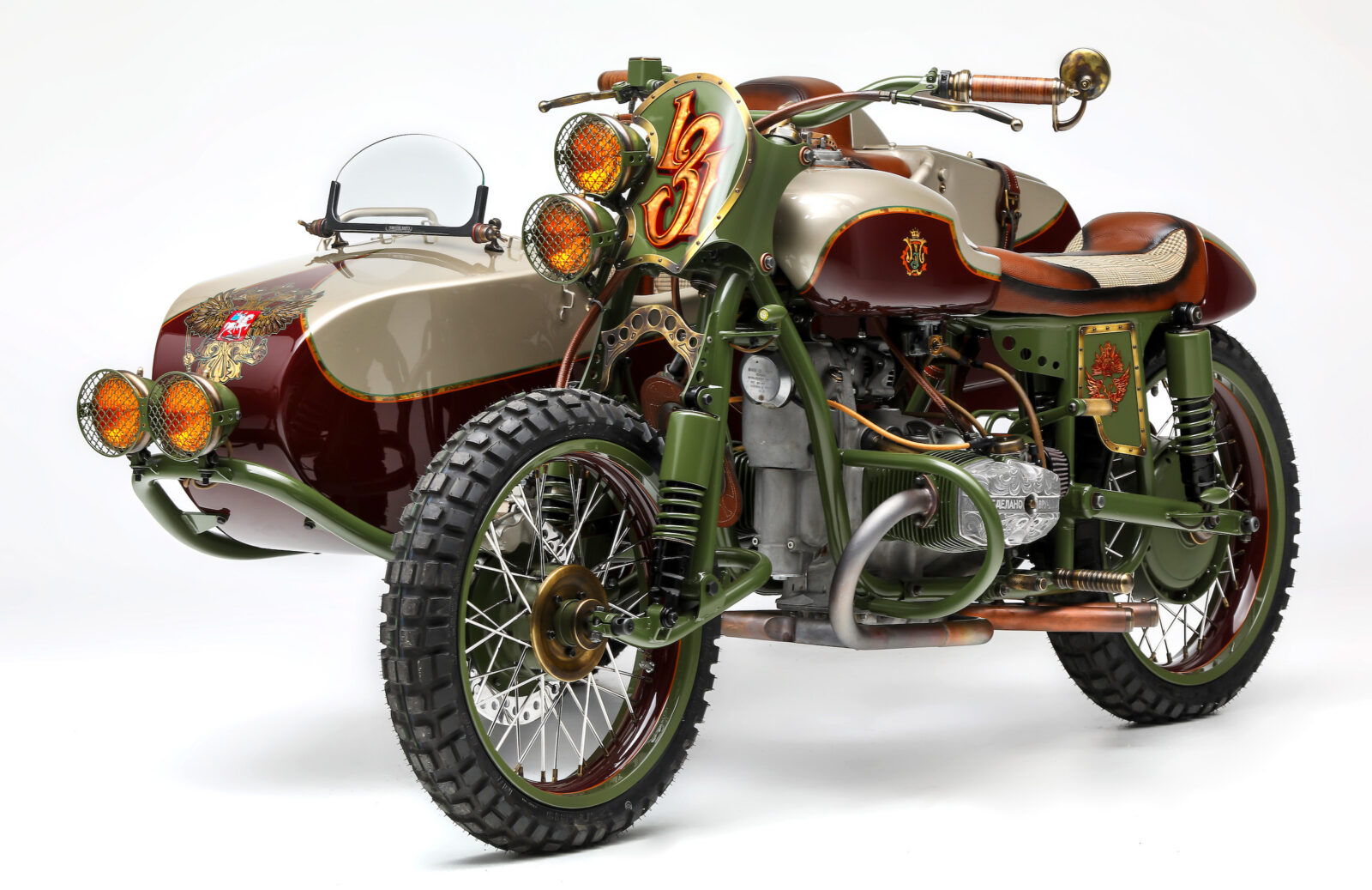 Sidecar fender for motorcycle URAL.
