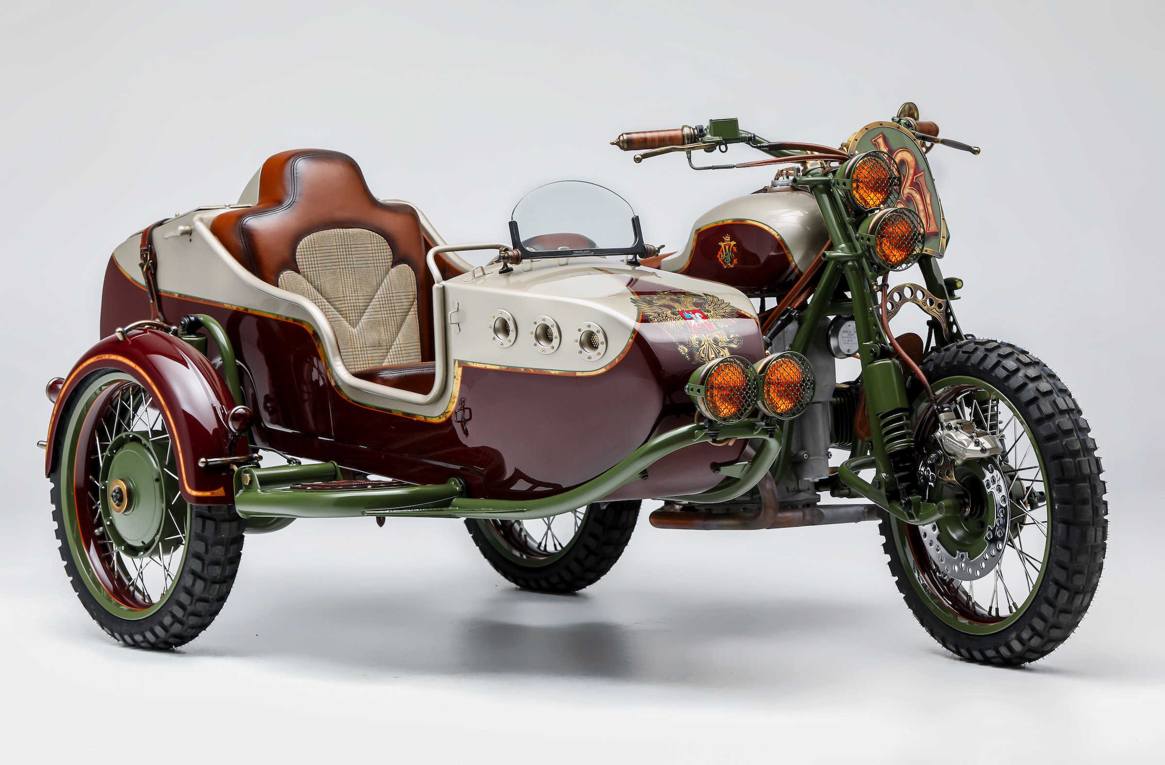 "Custom 2WD Ural Sidecar Motorcycle by Le Mani Moto - ""From Russia"