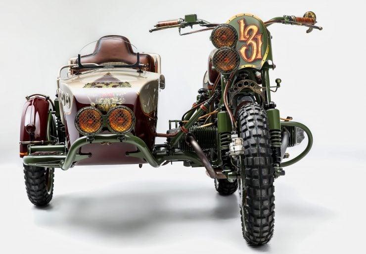 Custom 2WD Ural Sidecar Motorcycle Front 2