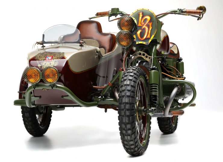 Custom 2WD Ural Sidecar Motorcycle Front