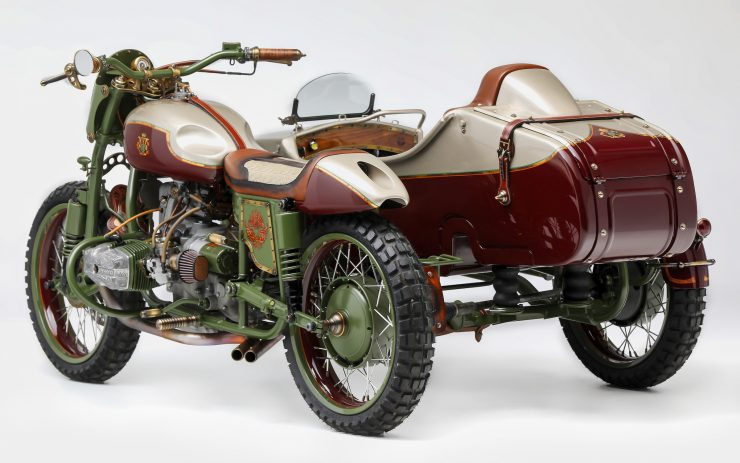 Custom 2WD Ural Sidecar Motorcycle Rear Side