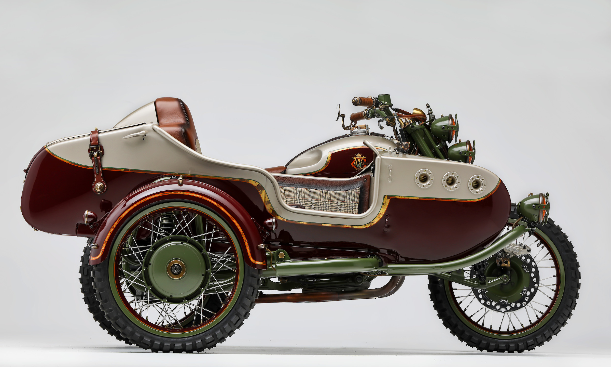"""Custom 2WD Ural Sidecar Motorcycle by Le Mani Moto - """"From"""
