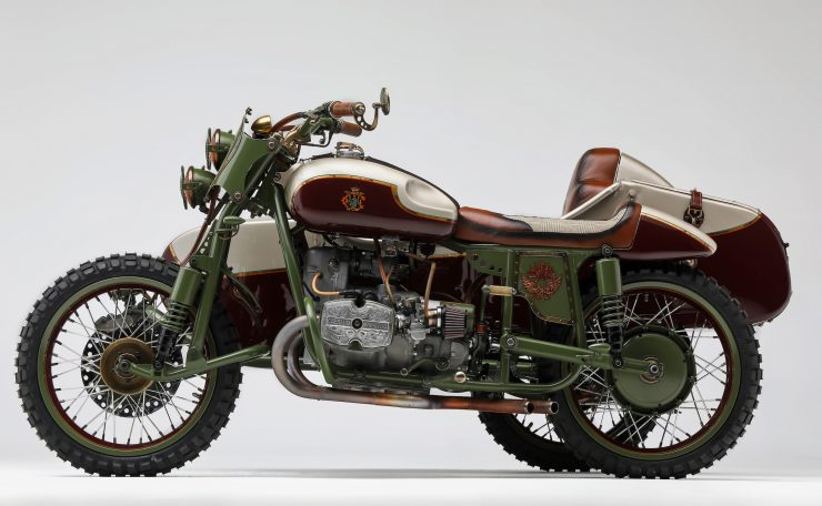 Custom 2WD Ural Sidecar Motorcycle Side