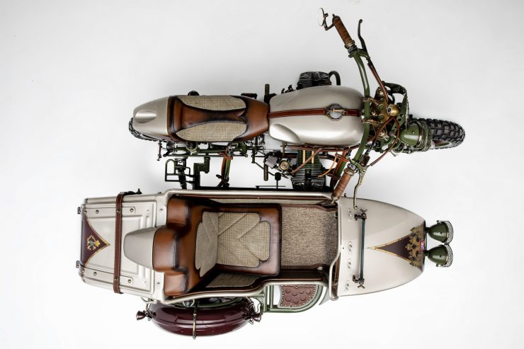 Custom 2WD Ural Sidecar Motorcycle Top View