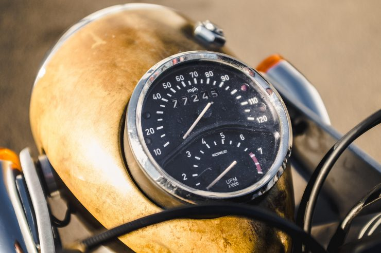 Custom BMW R100 RS Aero Motor Retro Speedo