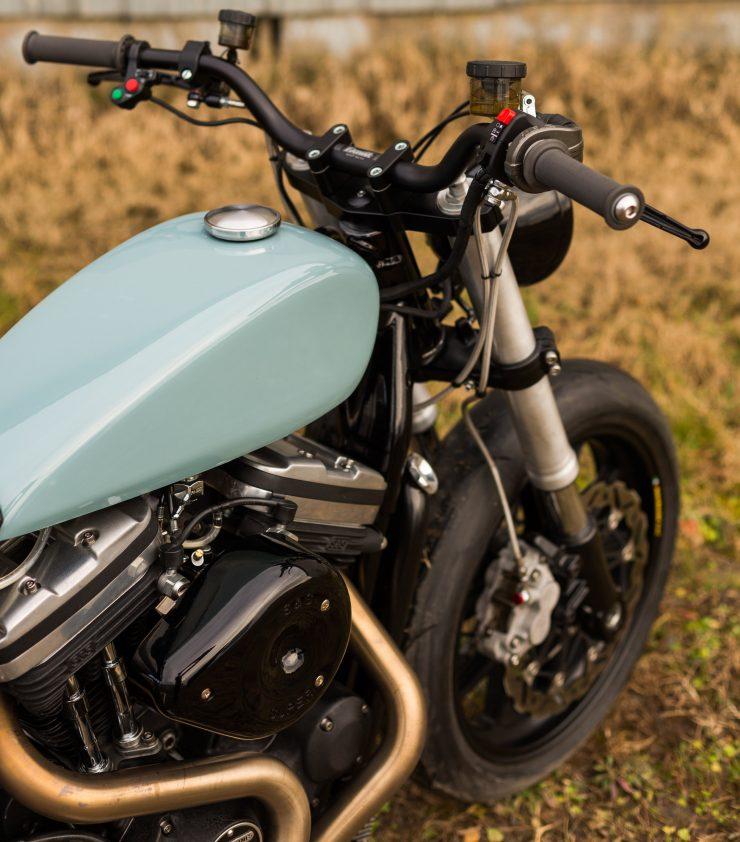 Custom Harley-Davidson Sportster Street Tracker Overhead