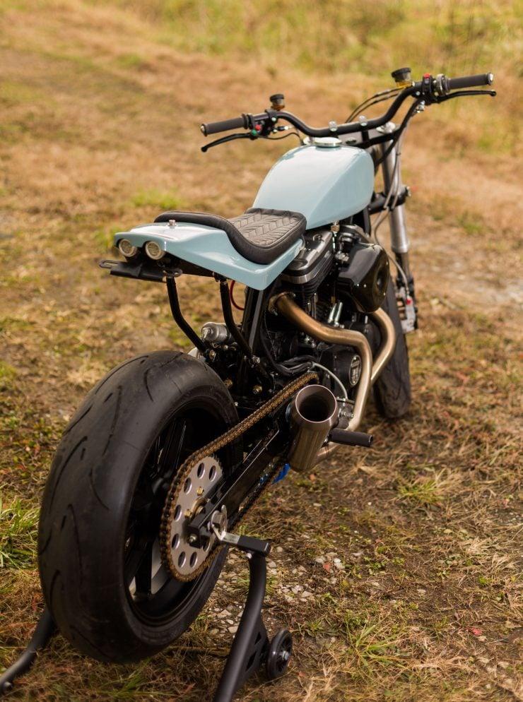 Custom Harley-Davidson Sportster Street Tracker Rear
