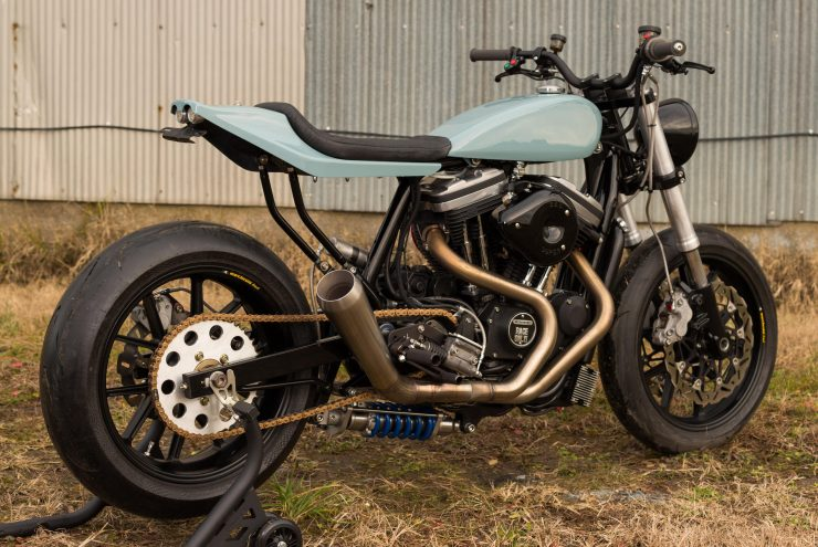 Custom Harley-Davidson Sportster Street Tracker Right Side Rear