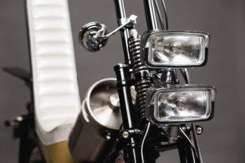 Custom Postie Bike Chopper - The Hopper Headlights
