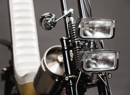 Custom Postie Bike Chopper - The Hopper Headlights