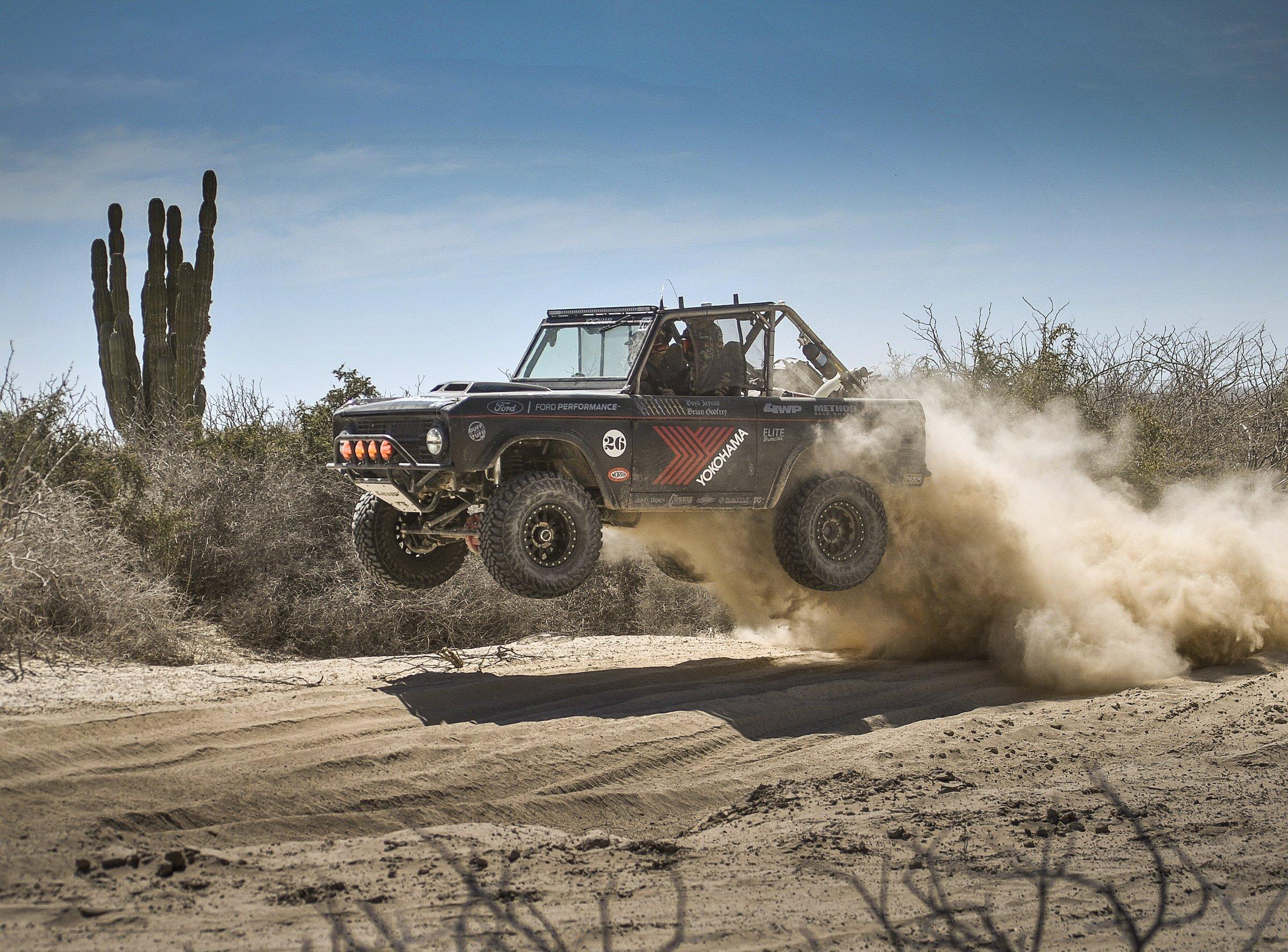 Ford Bronco Racing Jump