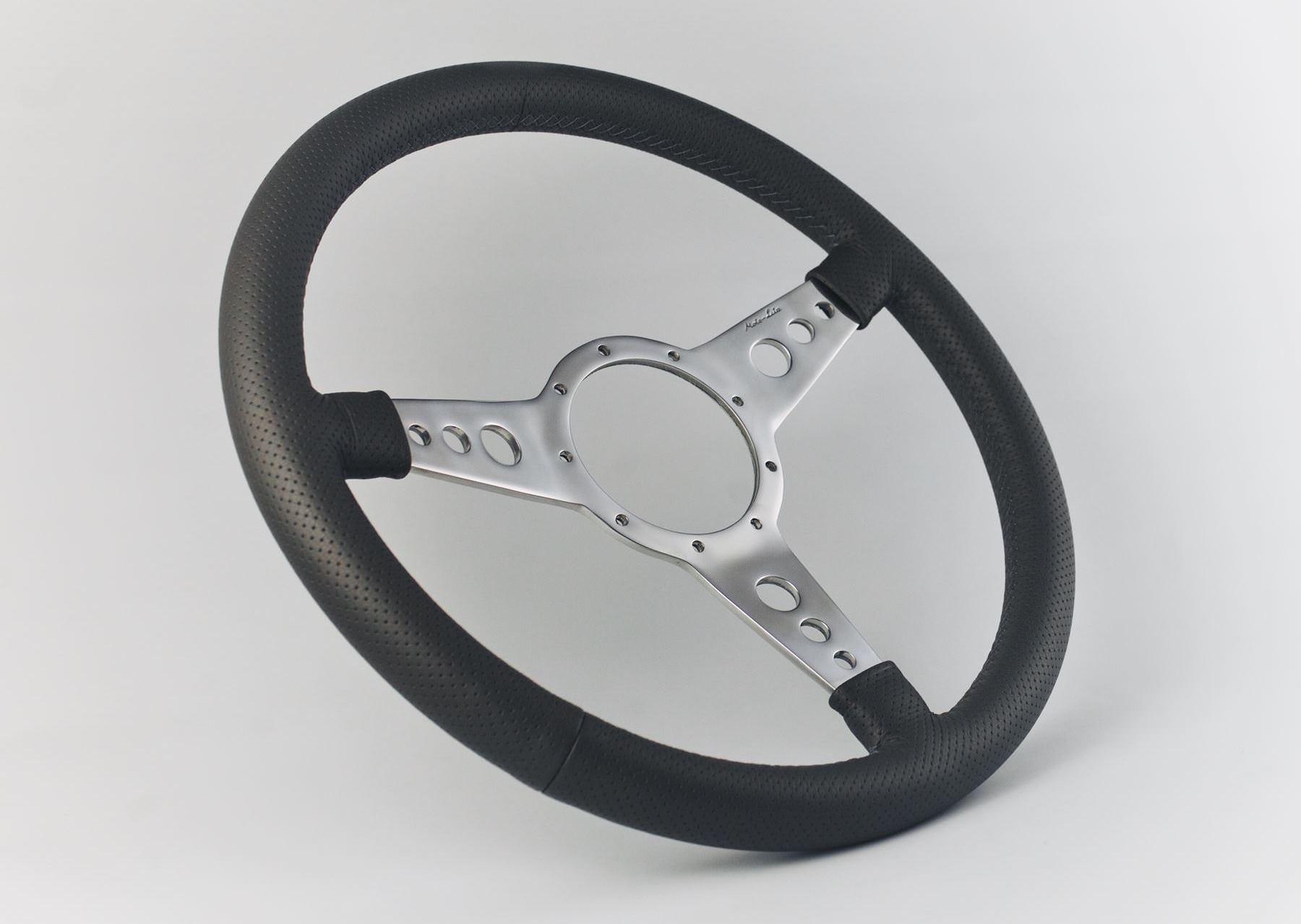 Moto-Lita Mark Four Leather Rim Perforated Steering Wheel