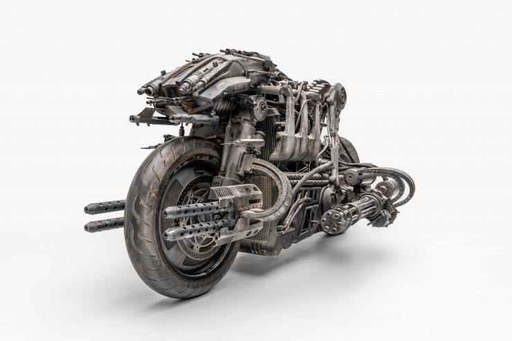 Moto-Terminator - The Ducati Hypermotard Based Terminator Salvation Stunt Bike 4