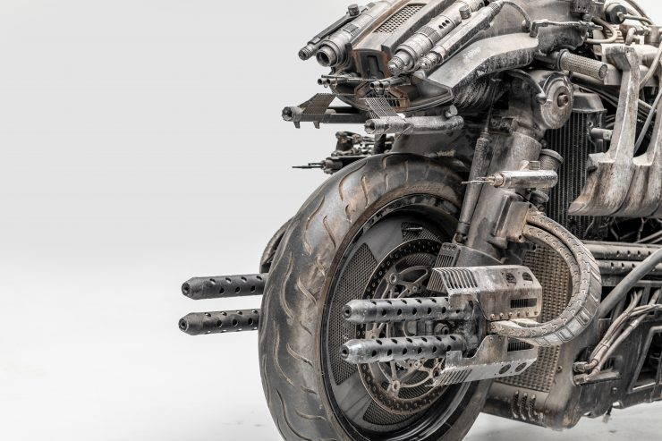 Moto-Terminator - The Ducati Hypermotard Based Terminator Salvation Stunt Bike Guns