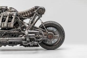 Moto-Terminator - The Ducati Hypermotard Based Terminator Salvation Stunt Bike Rear