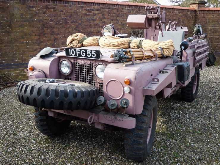 Series 2A SAS Land Rover Pink Panther Front