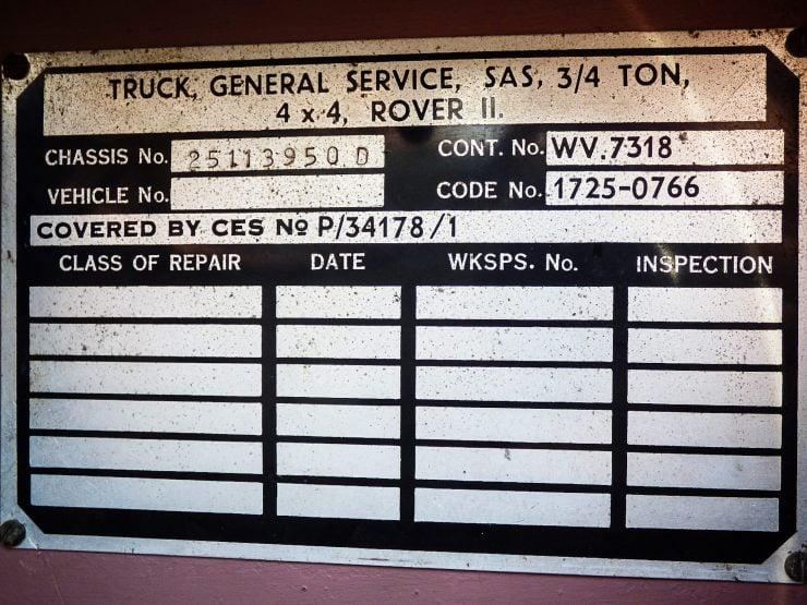Series 2A SAS Land Rover Pink Panther VIN