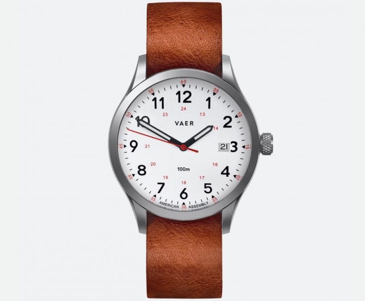 VAER Watches Field Watch Leather Strap