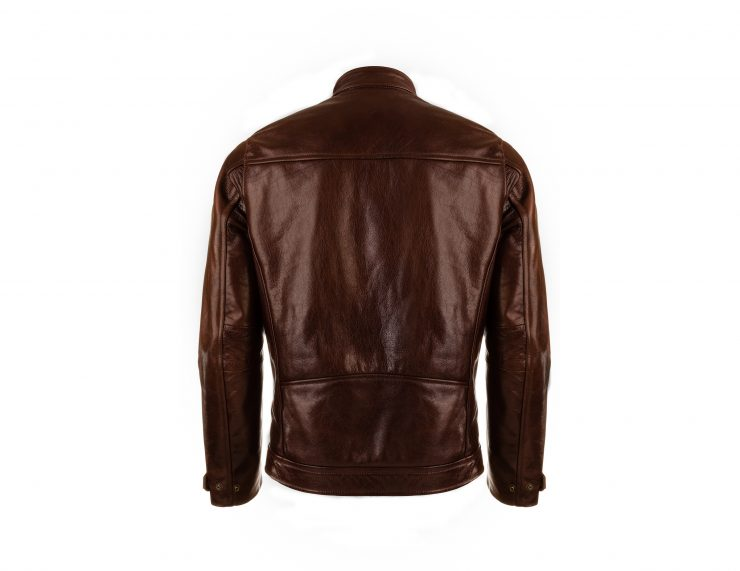 VKTRE Moto Co Heritage Leather Road Jacket Back