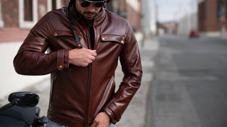 VKTRE Moto Co Heritage Leather Road Jacket Model 1