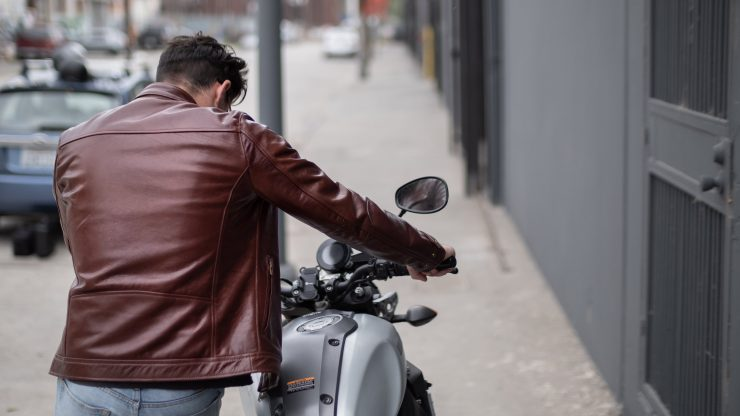 VKTRE Moto Co Heritage Leather Road Jacket Rear