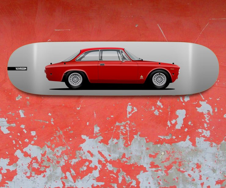 Vuvroom Skateboard Deck Alfa Romeo Red