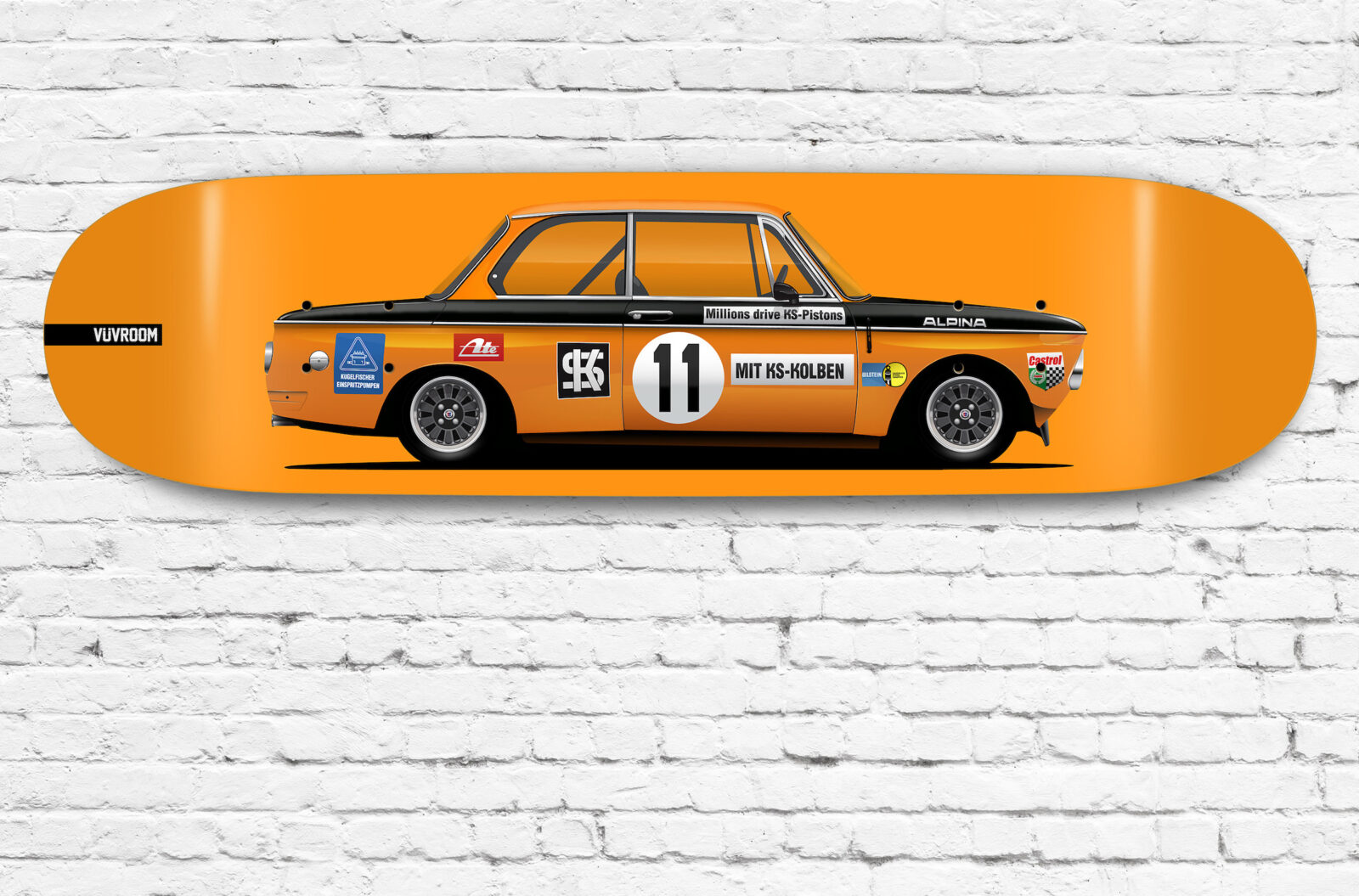 Vuvroom Skateboard Deck BMW 2002 Main
