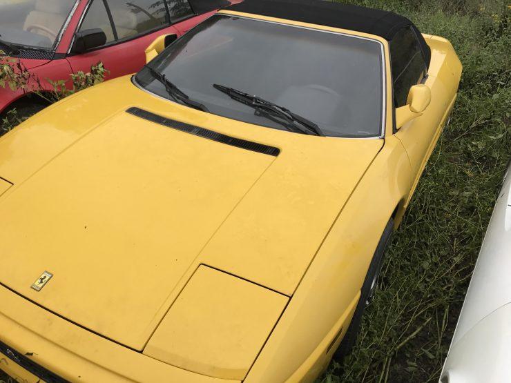 Yellow Ferrari 348