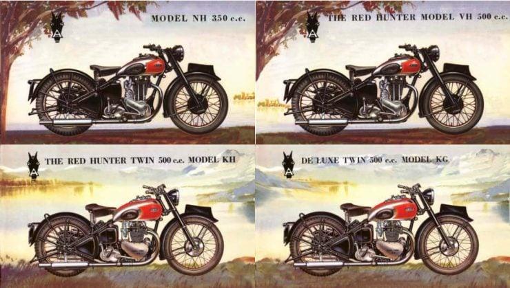 Ariel Red Hunter postwar motorcycles