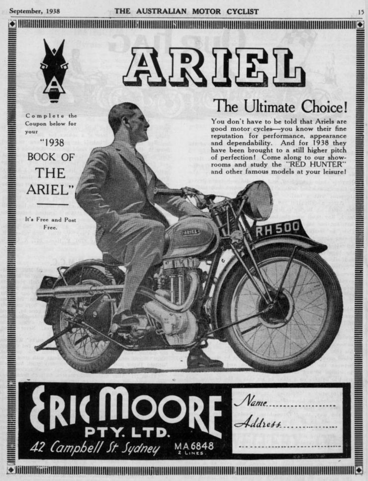 Ariel motorcycle advertisement