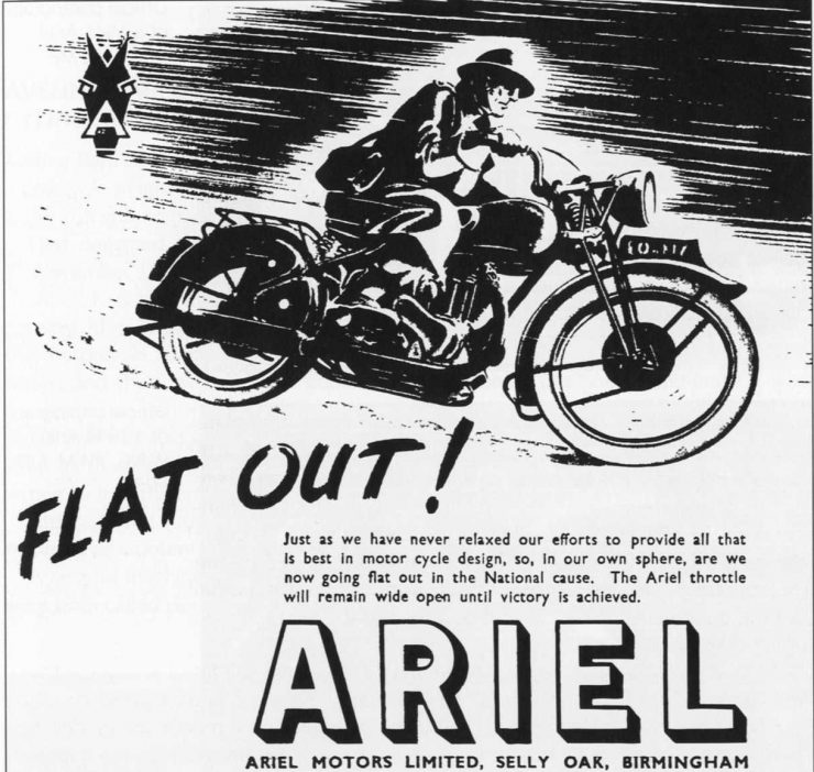 Ariel Second World War motorcycle