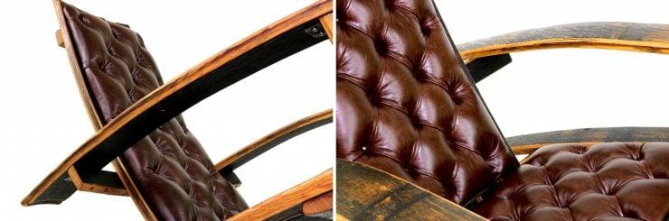 Bourbon Barrel Rocking Chair Details