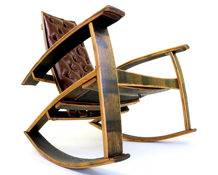 A Rocking Chair Made From Reclaimed Bourbon Barrels – The Recurved Rocker