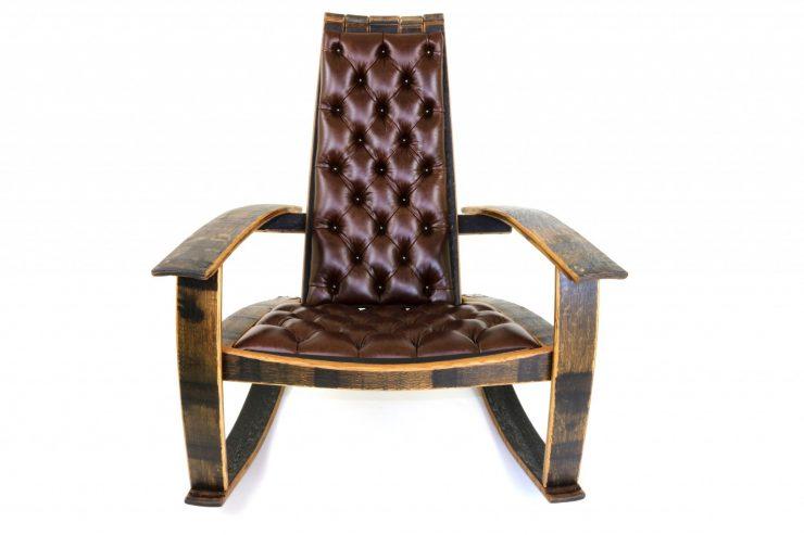 Bourbon Barrel Rocking Chair Front