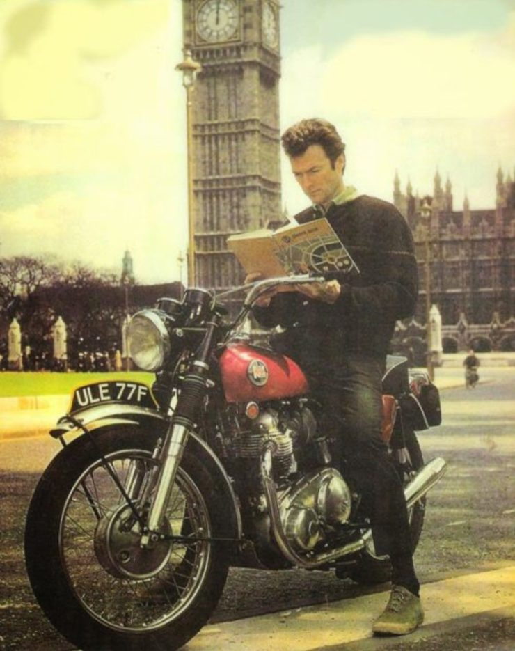 Clint Eastwood Norton P11 Motorcycle London